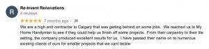 My Home Handyman customer review