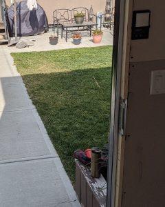 My Home Handyman Repairs: Door jamb fixed, inside view