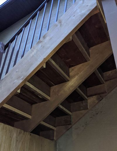 My Home Handyman exterior project, new stairs: underneath view