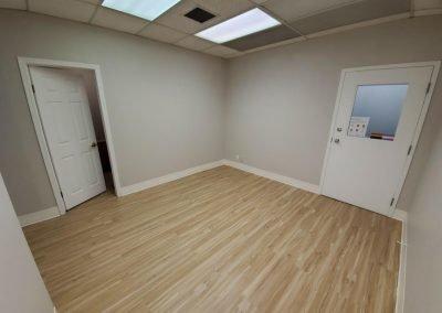 Room with Hanging Doors