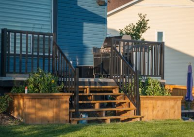 My Home Handyman custom deck with planters
